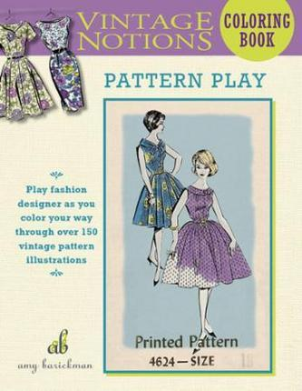 Vintage Notions Pattern Play Coloring Book