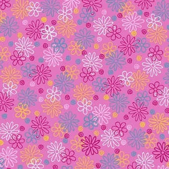 Catalina Flower Power On Pink Flannel
