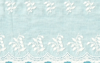 Lily Of The Valley Embroidered Swiss Flounce — 27