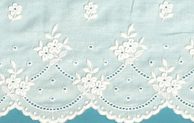 Swiss Embroidered Cotton Flounce
