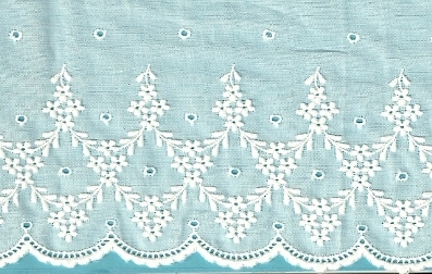 Swiss Embroidered Cotton Flounce - 27