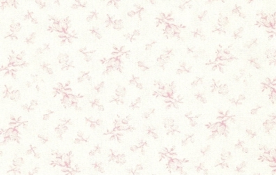 Baby Pink Floral On White Chino