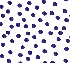 Fabric Finders Marine Blue Dots On White Twill