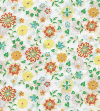 Fabric Finders Floral On White Voile