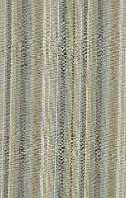 Brown, Taupe, Blue & Off White Striped Linen Blend