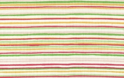 Multi Pink, Green, Orange & Yellow Stripes On White Twill
