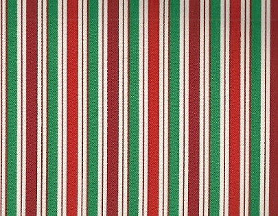 Red, Green White Stripe