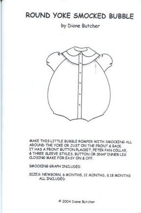 Round Yoke Smocked Dress