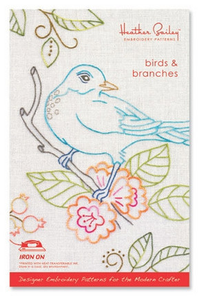 Heather Bailey Birds And Branches Embroidery Pattern