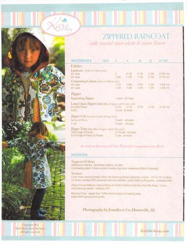 Kari Me Away Zippered Raincoat