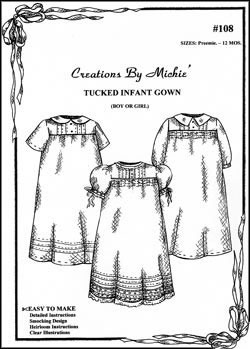 Tucked Infant Gown-#108