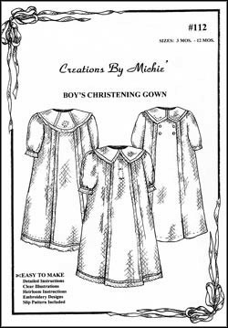 Boy's Christening Gown-#112